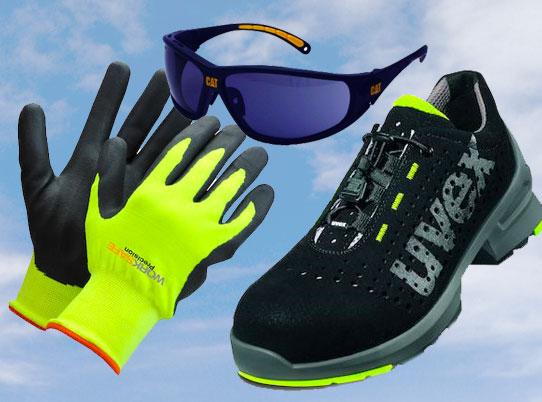 foto av sko, briller og hansker
